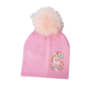 cap unicorn with pompom girl pink buy