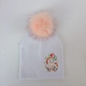 cap unicorn with pompom girl white clothing unicorn