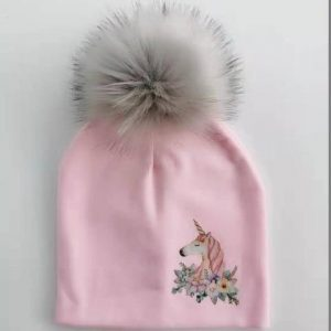 cap unicorn with pompom pink at sell