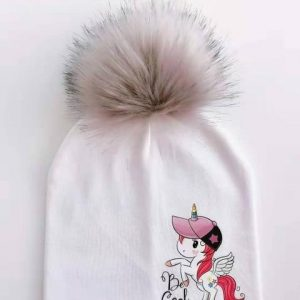 cap unicorn with pompom youth not dear