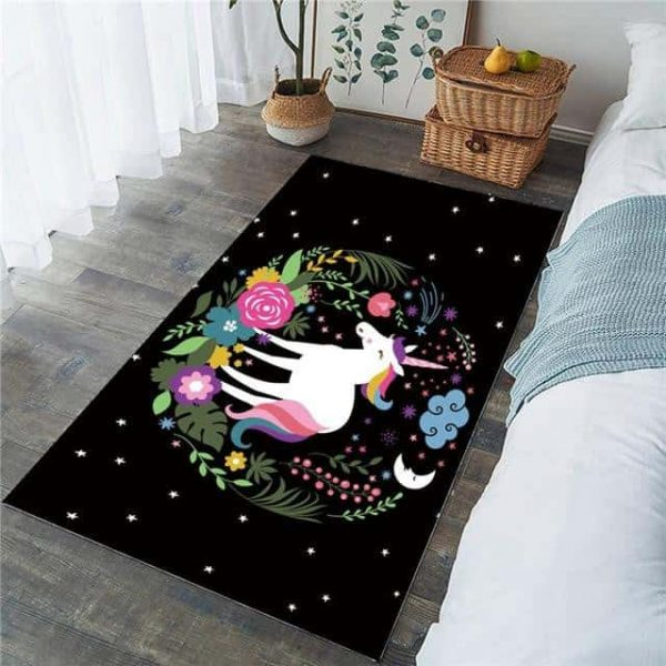 carpet unicorn bedroom black 91x152cm at sell