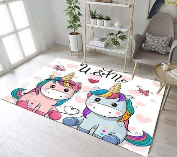 carpet unicorn bedroom girl 160 cm 160cm wx 120cm l