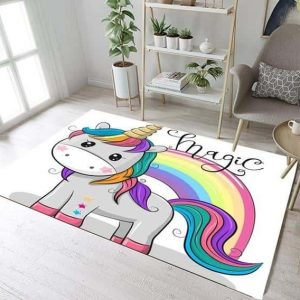 carpet unicorn bedroom girl 160cm wx 120cm l carpet unicorn