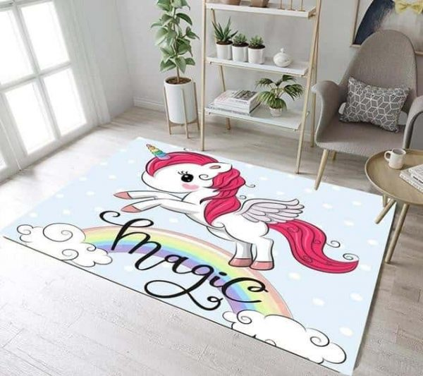 carpet unicorn big cut 160cm wx 120cm l