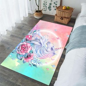 carpet unicorn flower 152x244cm not dear