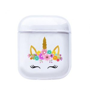 case airpods unicorn smile not dear