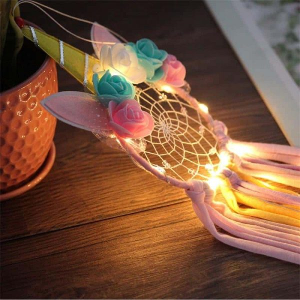 catches dream unicorn bright decoration unicorn