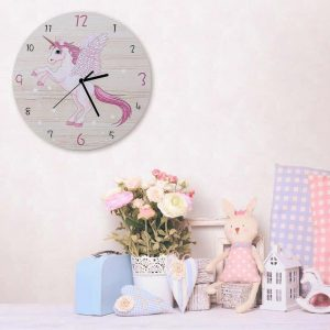 clock mural silent unicorn buy