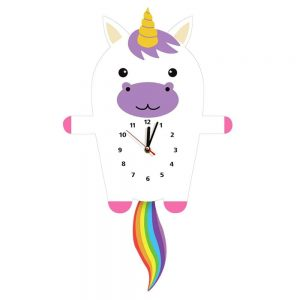 clock mural unicorn kawaii at sell