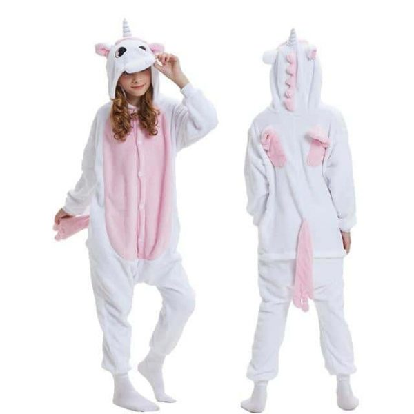 Girl's unicorn fleece pajamas
