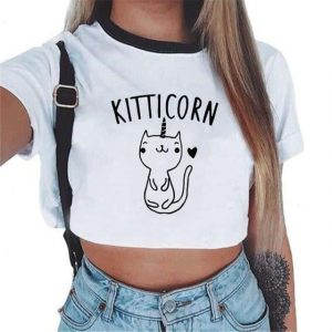 crop top unicorn cat unicorn mr product unicorn
