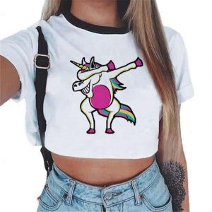crop top unicorn donkey dab mr at sell
