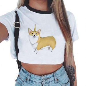 crop top unicorn fox mr buy