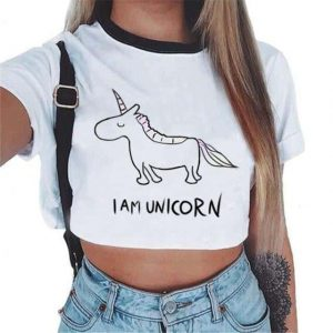 crop top unicorn i am a unicorn mr at sell