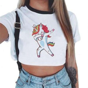 crop top unicorn romantic dab mr not dear
