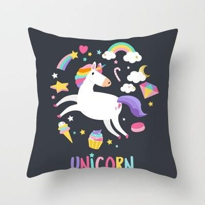 cushion pillow unicorn multicolored at sell