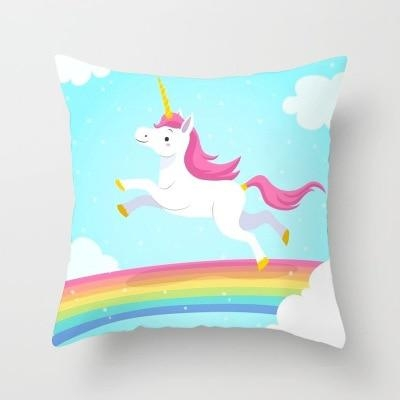 cushion pillow unicorn who market sure bow in sky