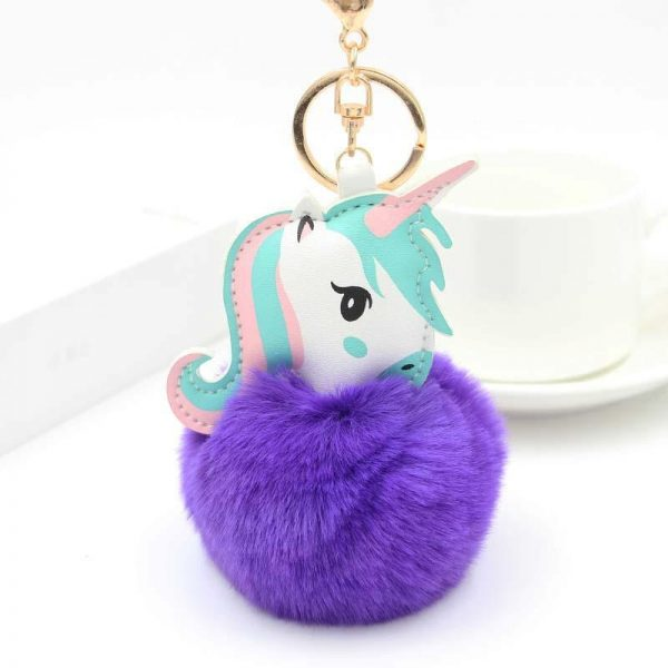 door key unicorn ball at fur mauve price