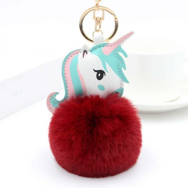 door key unicorn ball of fur red dark price