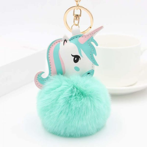 door key unicorn ball of fur turquoise unicorn backpack store