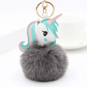door key unicorn pompom grey dark unicorn backpack store