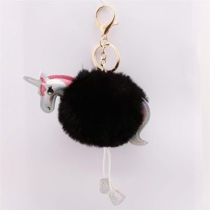 door key unicorn sure paws pompom black