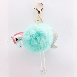 door key unicorn sure paws pompom blue unicorn backpack store