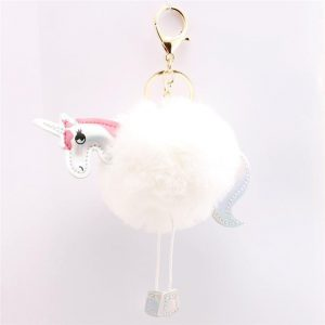 door key unicorn sure paws pompom white not dear