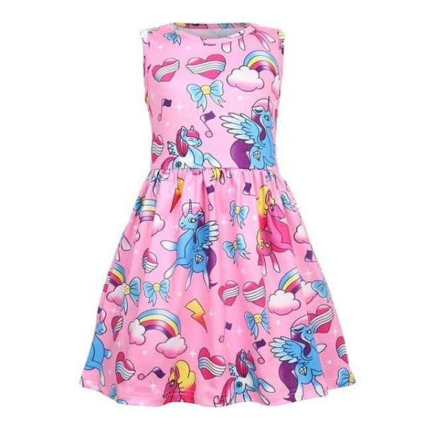 dress unicorn child pink 12 no dear