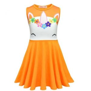 dress unicorn for child orange 10 dress unicorn child