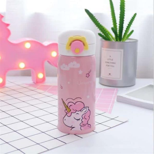 gourd unicorn pink in stainless steel 500ml pink gourd unicorn