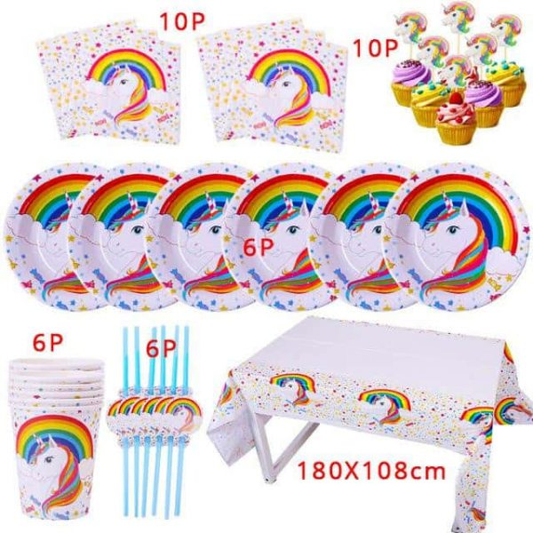 kit anniversary unicorn 10 pieces decoration unicorn