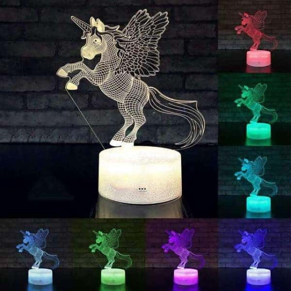 lamp unicorn at remote control 16 colors lamp unicorn