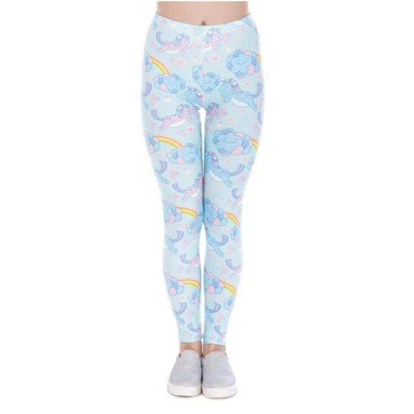 leggings unicorn blue