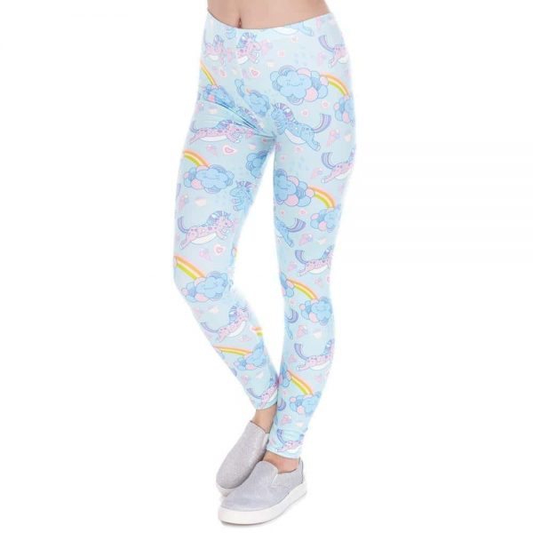 leggings unicorn blue not dear