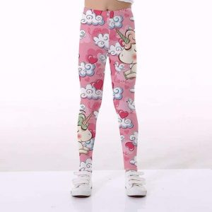 leggings unicorn girl pink 10 11 to sell