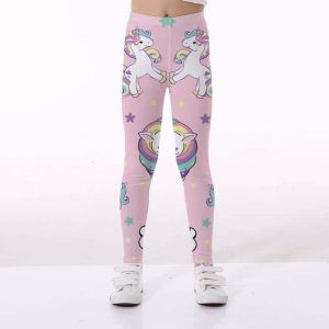 leggings unicorn girl pink candy 10 11 not dear