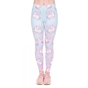 leggings unicorn in pattern leggings unicorn
