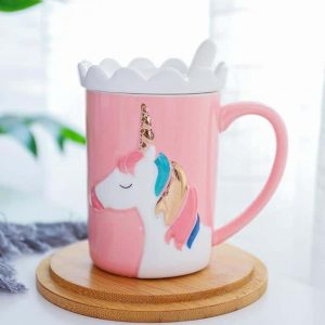 mug unicorn 3d pink buy