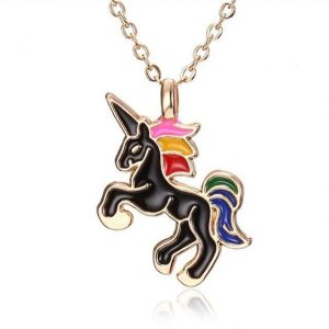 necklace unicorn bow in sky gold unicorn backpack store