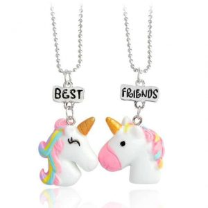 necklace unicorn friendship oval jewelry unicorn