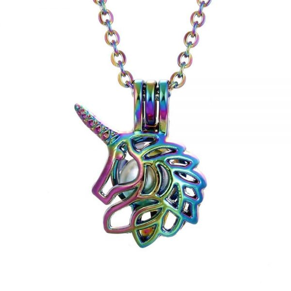 necklace unicorn head of unicorn buy