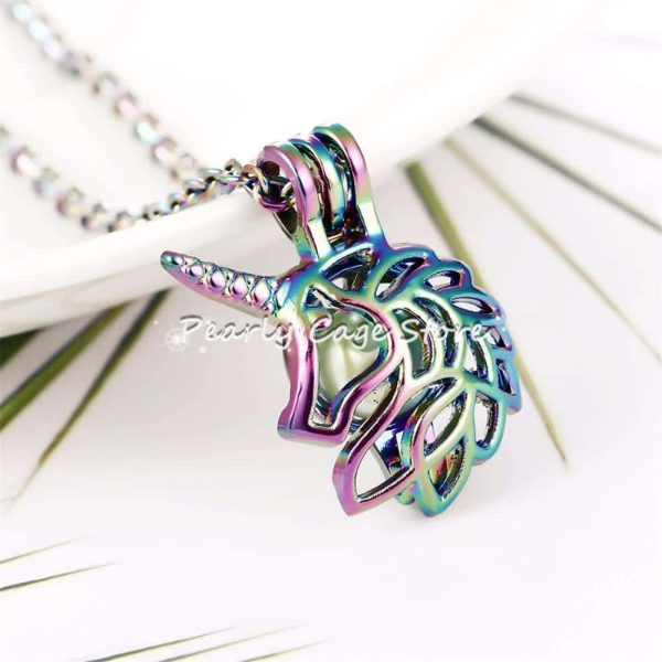 necklace unicorn head of unicorn not dear