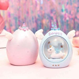 night light unicorn under bell pink at sell