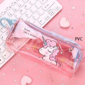pencil case unicorn school transparent for girl buy