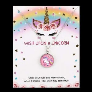 pendant unicorn pink not dear