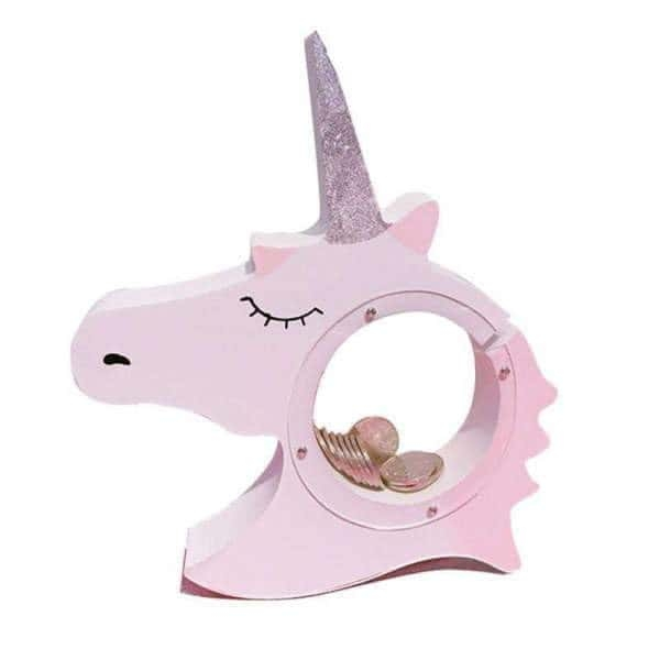piggy bank unicorn in wood unicorn backpack store