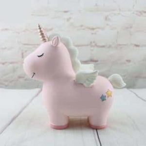 piggy bank unicorn pink