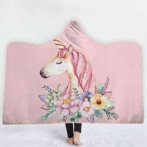 plaid unicorn pink 130x150cm not dear