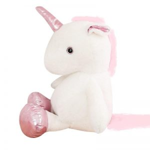 plush unicorn 60 80 cm pink 60cm not dear